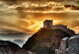 Sunset at great wall