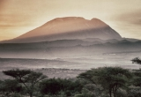 Mount Kilimangaro at sunset