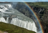 Rainbow over waterfalls