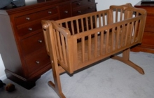 Asher's Mahogany cradle