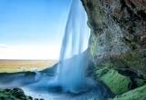Behind waterfalls walkway