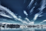 Skies over ice lagoon