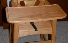 Asher's high chair with Intarsia
