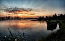 Sunrise on madison river