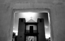 A view from the Gate of the Church in Taos