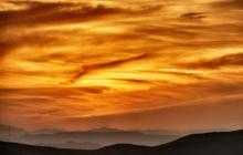 Sunset from a bird eye view