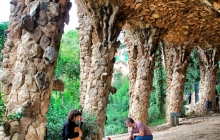 Guitarist in Parc Guell