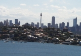 Sidney skyline from the harbor