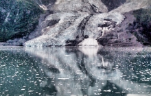 Reflection of a glacier