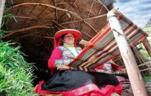 A weaving woman