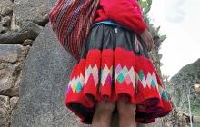 A Peruvian Woman Posing