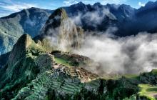 Cloud cover over MachuPicchu