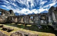 Ruins of MachuPicchu under amazing skies