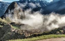 MachuPicchu covered with clouds
