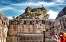 Collapsing temple wall at MachuPicchu