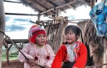 Young peruvian children