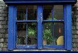 A blue window in portree