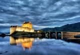 Light painting of the bridge to Eilean Donan Castle