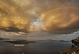 118 Rainbow at sunrise in Fira DSC_0839