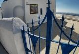 19 Church gate in fisheye in Fira DSC8192