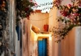 35 A street in Pyrgos lit in sunrise_DSC8411_