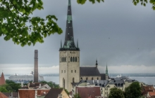 34. Tallinn View of Old City